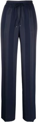 Tommy Hilfiger Striped Jacquard Wide-Leg Trousers