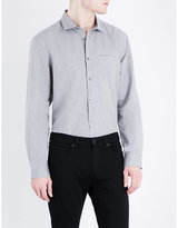 John Varvatos Slim-fit Cotton And Linen-blend Shirt