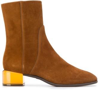 Stuart Weitzman translucent heel boots