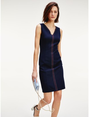 Tommy Hilfiger Sleeveless Tipped Dress