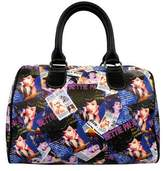Bettie Page Women's Collage Satchel Bag BPG1082
