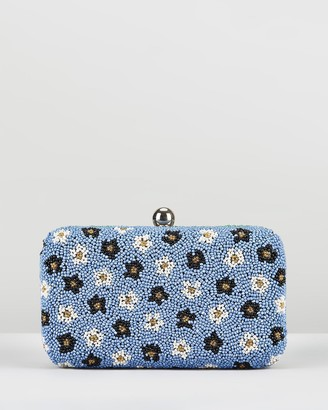 From St Xavier Split Floral Box Clutch