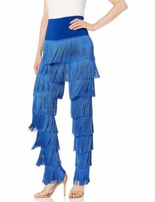 Norma Kamali Women's Boot Pant All Over Fringe