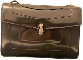 Bvlgari Serpenti Silver Leather Handbags