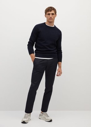 MANGO MAN - 100% cotton sweater green - S - Men