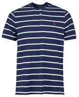 Polo Ralph Lauren Custom Slim Fit Striped Henley T-shirt Colour: NAVY,