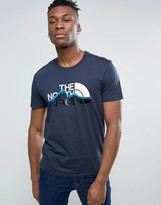 The North Face Mountain Line T-shirt In Navy