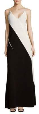 Narciso Rodriguez Diagonal Block Floor-Length Gown