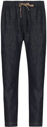 Brunello Cucinelli Drawstring Cropped Trousers