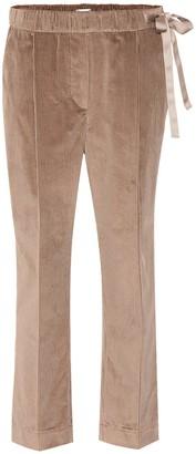 Brunello Cucinelli Side tie corduroy trackpants