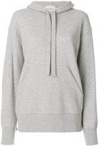 Laneus knitted ruffle hoodie
