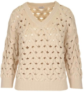 Brunello Cucinelli Loose Cable Knit Sweater