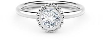 Forevermark 18k White Gold Diamond Beaded Engagement Ring, 0.25tcw