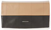 Karen Millen Graphic Square Leather Clutch Bag, Nude