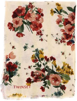 Twin-Set TWIN SET Scarf Scarf With Floral Pattern