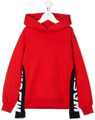 MSGM Kids side logo hoodie