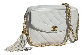 Chanel Diana White Leather Handbags