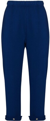 LES TIEN Turn-Up Cuff Cotton Track Pants