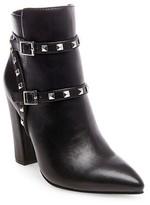 Betseyville by Betsey Johnson Women's Pantera Studded Heeled Booties - Black