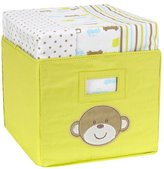 Carter's Tote with 3-Pack Receiving Blankets - Monkey