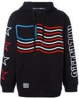 Kokon To Zai american flag hoodie - men - Cotton - L