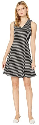 Karen Kane Stripe Fit Flare Dress (Stripe) Women's Clothing