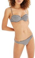 Topshop Women's Gingham Bikini Bottoms