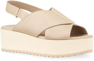 Vince Jenaya Chunky-Heel Leather Sandals