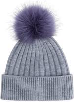 Accessorize Contrast FF Pom Beanie Hat