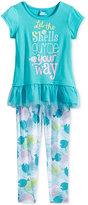 Disney Disney's Dory 2-Pc. Layered-Look T-Shirt & Leggings Set, Toddler Girls (2T-4T) & Little Girls (2-6X)