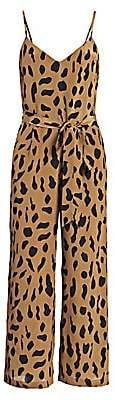 L'Agence Women's Jaelyn Animal-Print Jumpsuit - Size 0