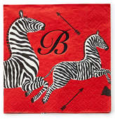 Caspari 100 Zebras Cocktail Napkins