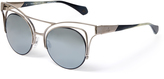 Vivienne Westwood Cutout Cat-Eye Sunglasses Gunmetal Gold VW936S03