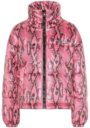 MSGM Snake-effect puffer jacket