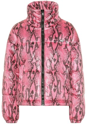 MSGM Snake-effect puffer jacket