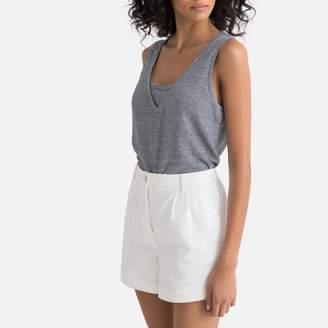 La Redoute Collections Linen Striped Vest Top