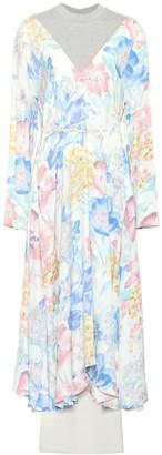 Vetements Floral-printed crepe dress