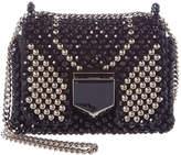 Jimmy Choo Lockett Petite Beaded Embroidery Shoulder Bag