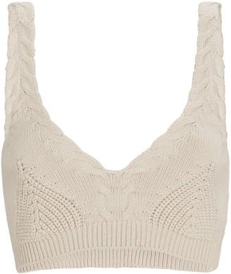 Jonathan Simkhai Elsa Cable Knit Bralette Top