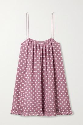 Caroline Constas Ruffled Polka-dot Chiffon Mini Dress - Pink