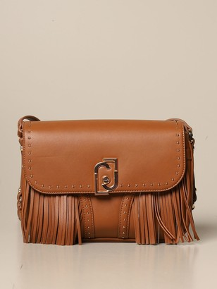 Liu Jo Shoulder Bag In Synthetic Leather With Fringes