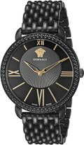 Versace Women's M6Q60D008 S060 Krios Black IP Black Dial Sapphire Crystal Watch