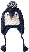 Fat Face Children's Penguin Trapper Hat, Navy
