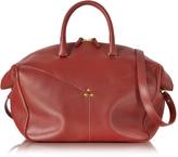 Jerome Dreyfuss Gerald Smooth Burgundy Leather Tote Bag