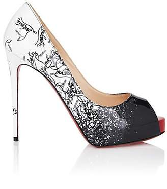"Christian Louboutin Women's ""New Very Prive"" Platform Pumps - Black, Snow"