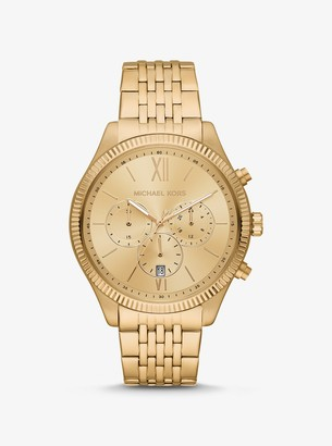 Michael Kors Oversized Benning Gold-Tone Watch