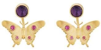 Eye M Women's Butterfly Ear Jackets - Gold