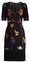Marco De Vincenzo Squirrel-print crepe dress