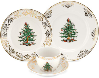 Spode Christmas Tree Gold Collection 4Pc Place Set