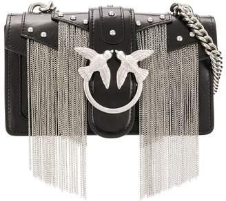 Pinko chain fringe cross body bag